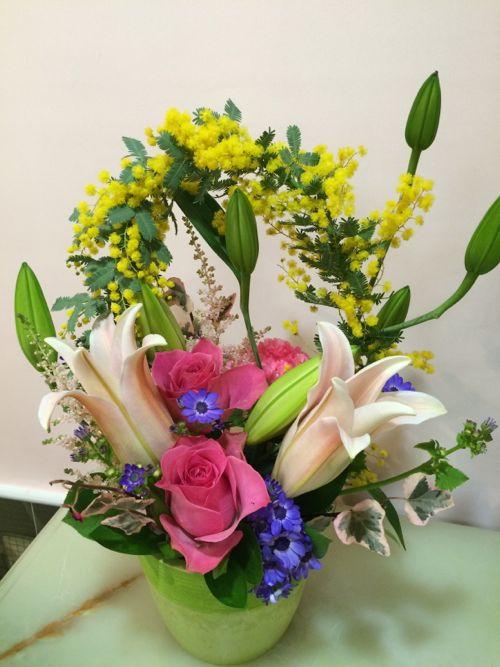 花ギフト|フラワーギフト|誕生日 花|カノシェ話題|スタンド花|ウエディングブーケ|花束|花屋|IMG_9712