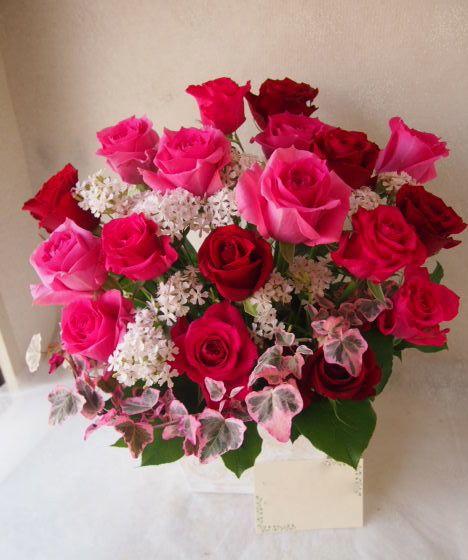 花ギフト|フラワーギフト|誕生日 花|カノシェ話題|スタンド花|ウエディングブーケ|花束|花屋|54453