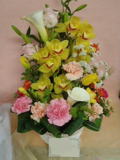 花ギフト|フラワーギフト|誕生日 花|カノシェ話題|スタンド花|ウエディングブーケ|花束|花屋|黄色シンヒ&#12441
