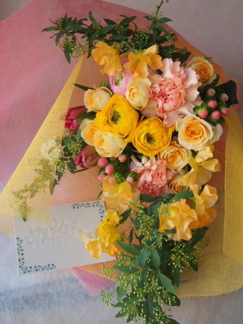 花ギフト|フラワーギフト|誕生日 花|カノシェ話題|スタンド花|ウエディングブーケ|花束|花屋|45777