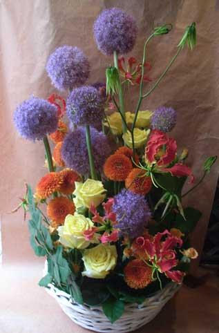 花ギフト フラワーギフト 誕生日 花 カノシェ話題 スタンド花 ウエディングブーケ 花束 花屋 ギガンジューム