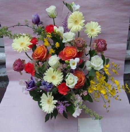 花ギフト|フラワーギフト|誕生日 花|カノシェ話題|スタンド花|ウエディングブーケ|花束|花屋|53705