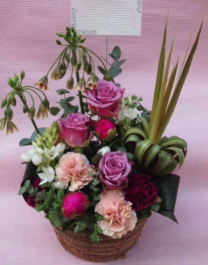 花ギフト|フラワーギフト|誕生日 花|カノシェ話題|スタンド花|ウエディングブーケ|花束|花屋|40718