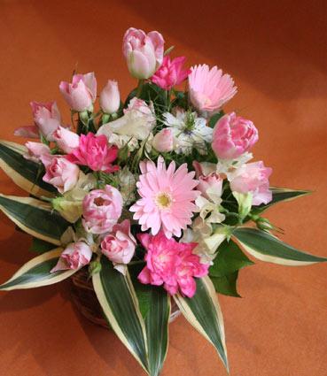 花ギフト フラワーギフト 誕生日 花 カノシェ話題 スタンド花 ウエディングブーケ 花束 花屋 かよこさんピンク