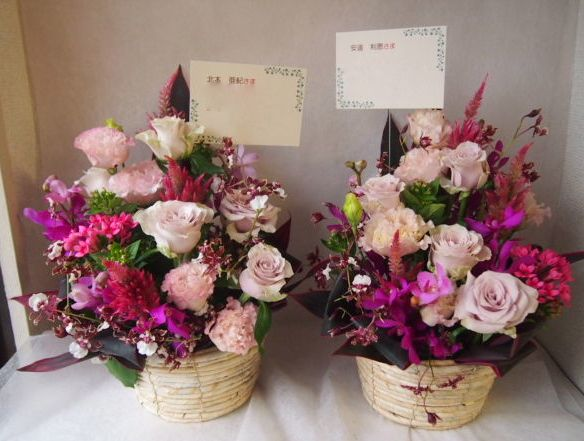 花ギフト フラワーギフト 誕生日 花 カノシェ話題 スタンド花 ウエディングブーケ 花束 花屋 42596(1)