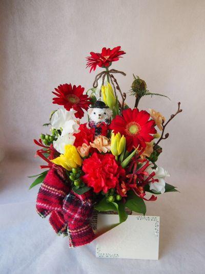 花ギフト|フラワーギフト|誕生日 花|カノシェ話題|スタンド花|ウエディングブーケ|花束|花屋|37861