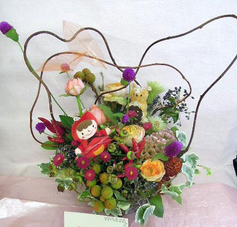 花ギフト|フラワーギフト|誕生日 花|カノシェ話題|スタンド花|ウエディングブーケ|花束|花屋|あかずきん