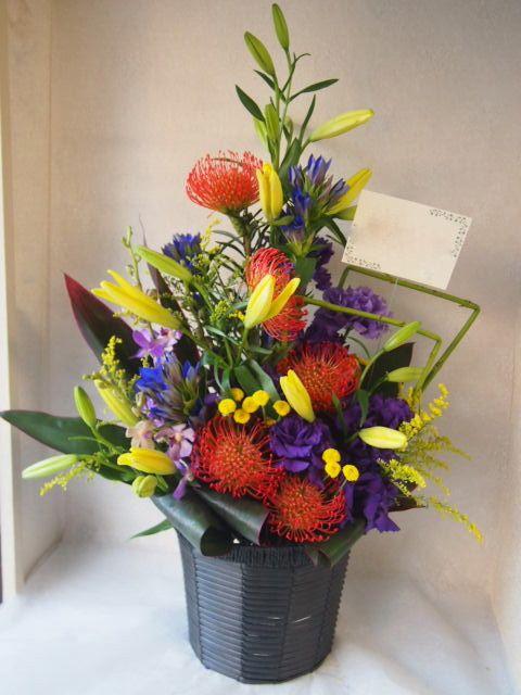 花ギフト|フラワーギフト|誕生日 花|カノシェ話題|スタンド花|ウエディングブーケ|花束|花屋|51244
