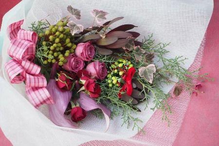 花ギフト|フラワーギフト|誕生日 花|カノシェ話題|スタンド花|ウエディングブーケ|花束|花屋|2015_xmas_b