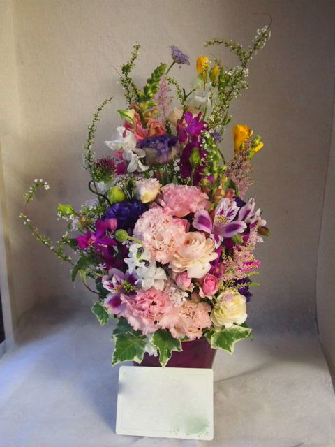 花ギフト|フラワーギフト|誕生日 花|カノシェ話題|スタンド花|ウエディングブーケ|花束|花屋|54816