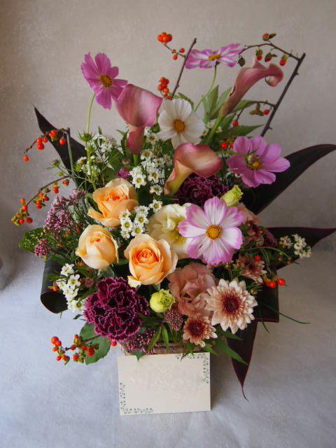 花ギフト|フラワーギフト|誕生日 花|カノシェ話題|スタンド花|ウエディングブーケ|花束|花屋|58462