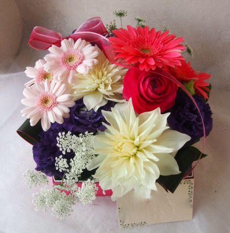 花ギフト|フラワーギフト|誕生日 花|カノシェ話題|スタンド花|ウエディングブーケ|花束|花屋|54708