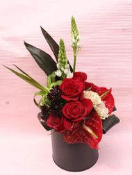 花ギフト|フラワーギフト|誕生日 花|カノシェ話題|スタンド花|ウエディングブーケ|花束|花屋|a_imahu_3_red