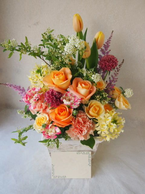 花ギフト|フラワーギフト|誕生日 花|カノシェ話題|スタンド花|ウエディングブーケ|花束|花屋|54138