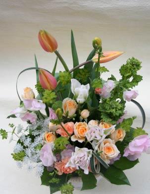 花ギフト フラワーギフト 誕生日 花 カノシェ話題 スタンド花 ウエディングブーケ 花束 花屋 るみ チューリップ