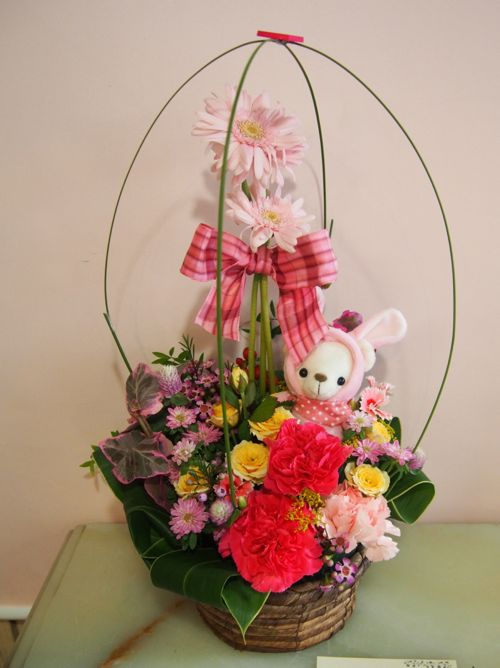 花ギフト|フラワーギフト|誕生日 花|カノシェ話題|スタンド花|ウエディングブーケ|花束|花屋|58129