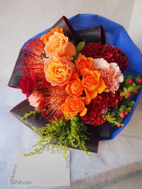 花ギフト|フラワーギフト|誕生日 花|カノシェ話題|スタンド花|ウエディングブーケ|花束|花屋|51520