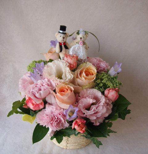花ギフト|フラワーギフト|誕生日 花|カノシェ話題|スタンド花|ウエディングブーケ|花束|花屋|40861