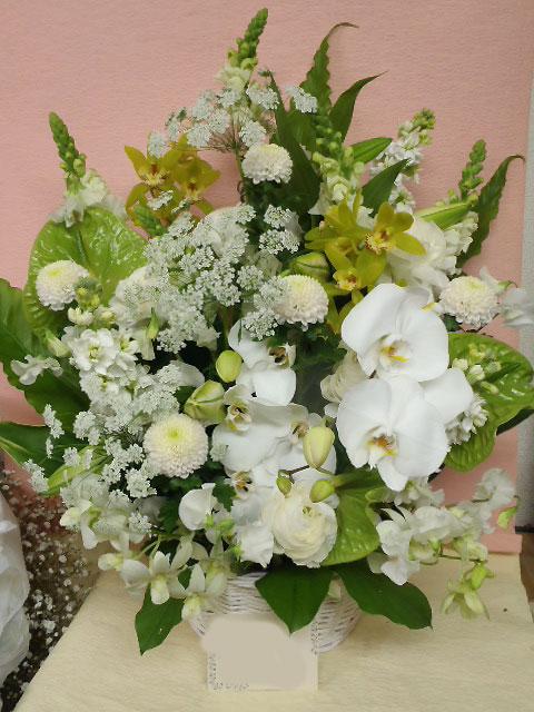 花ギフト フラワーギフト 誕生日 花 カノシェ話題 スタンド花 ウエディングブーケ 花束 花屋 okuyami-rie