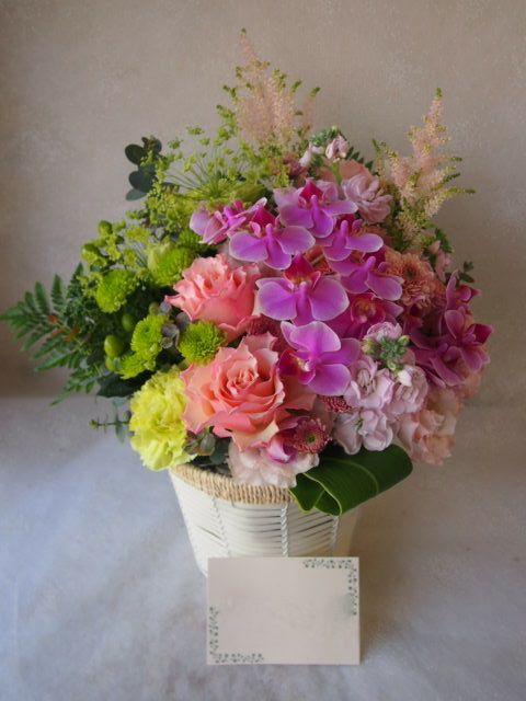 花ギフト|フラワーギフト|誕生日 花|カノシェ話題|スタンド花|ウエディングブーケ|花束|花屋|55173