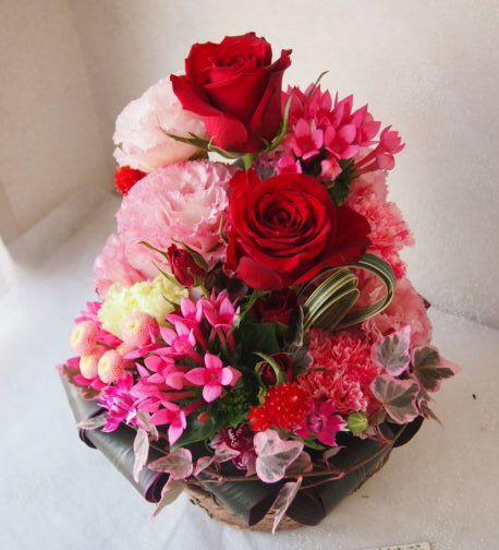 花ギフト|フラワーギフト|誕生日 花|カノシェ話題|スタンド花|ウエディングブーケ|花束|花屋|55983(1)