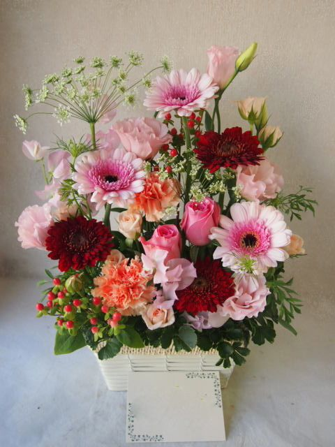 花ギフト|フラワーギフト|誕生日 花|カノシェ話題|スタンド花|ウエディングブーケ|花束|花屋|51658