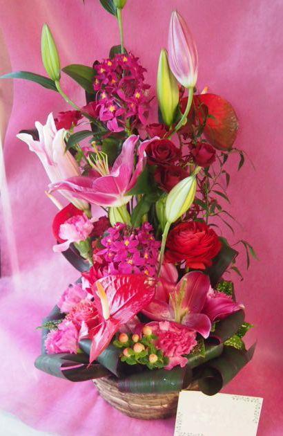 花ギフト|フラワーギフト|誕生日 花|カノシェ話題|スタンド花|ウエディングブーケ|花束|花屋|46714