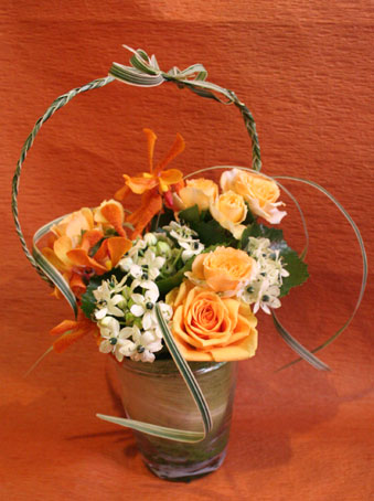 花ギフト|フラワーギフト|誕生日 花|カノシェ話題|スタンド花|ウエディングブーケ|花束|花屋|えみこさん ガラス