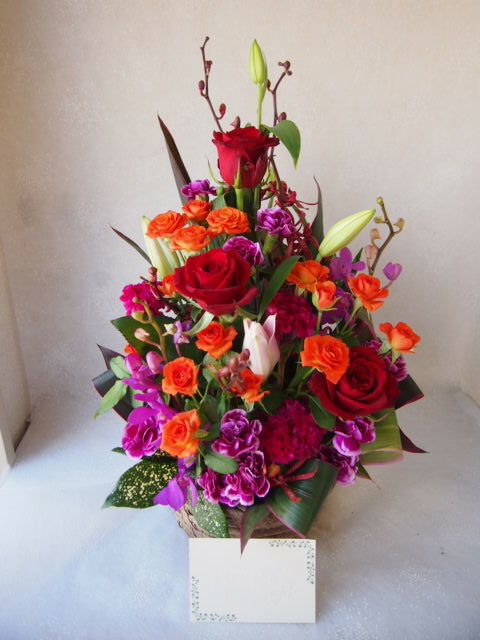 花ギフト|フラワーギフト|誕生日 花|カノシェ話題|スタンド花|ウエディングブーケ|花束|花屋|57414