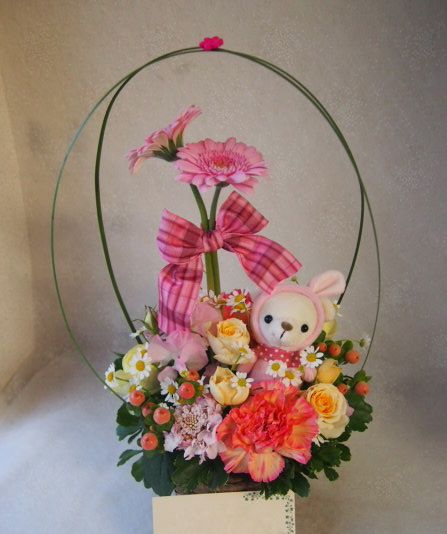 花ギフト|フラワーギフト|誕生日 花|カノシェ話題|スタンド花|ウエディングブーケ|花束|花屋|54127