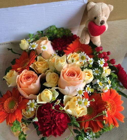 花ギフト|フラワーギフト|誕生日 花|カノシェ話題|スタンド花|ウエディングブーケ|花束|花屋|IMG_5155
