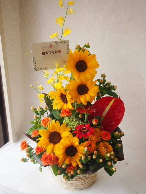花ギフト|フラワーギフト|誕生日 花|カノシェ話題|スタンド花|ウエディングブーケ|花束|花屋|49869