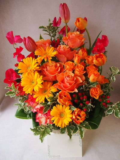 花ギフト|フラワーギフト|誕生日 花|カノシェ話題|スタンド花|ウエディングブーケ|花束|花屋|38978