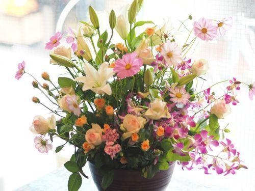花ギフト|フラワーギフト|誕生日 花|カノシェ話題|スタンド花|ウエディングブーケ|花束|花屋|P9120485