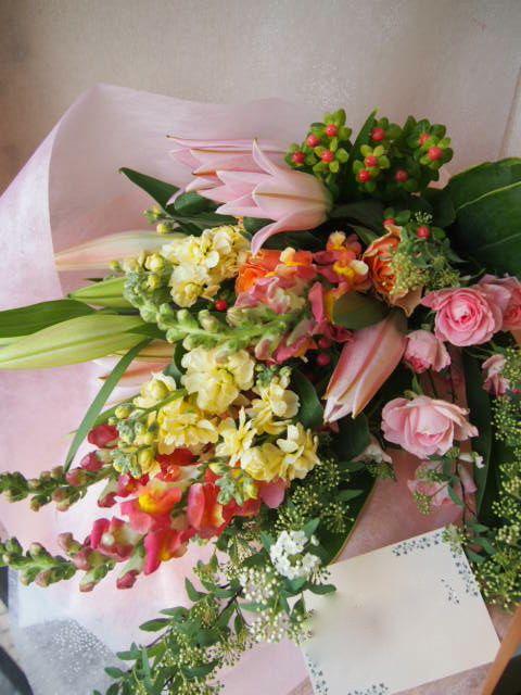 花ギフト|フラワーギフト|誕生日 花|カノシェ話題|スタンド花|ウエディングブーケ|花束|花屋|53755