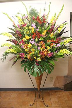 花ギフト フラワーギフト 誕生日 花 カノシェ話題 スタンド花 ウエディングブーケ 花束 花屋 コーンj2