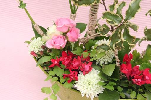 花ギフト フラワーギフト 誕生日 花 カノシェ話題 スタンド花 ウエディングブーケ 花束 花屋 IMG_7523