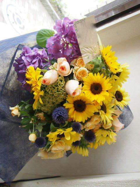 花ギフト|フラワーギフト|誕生日 花|カノシェ話題|スタンド花|ウエディングブーケ|花束|花屋|49586