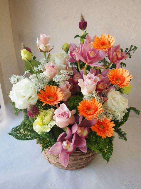 花ギフト|フラワーギフト|誕生日 花|カノシェ話題|スタンド花|ウエディングブーケ|花束|花屋|52405