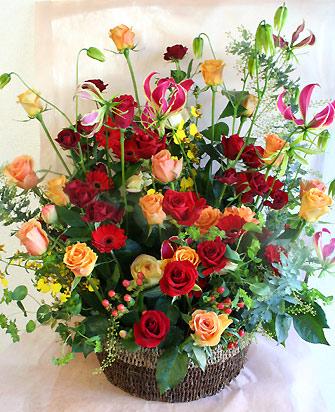 花ギフト|フラワーギフト|誕生日 花|カノシェ話題|スタンド花|ウエディングブーケ|花束|花屋|aka-orange