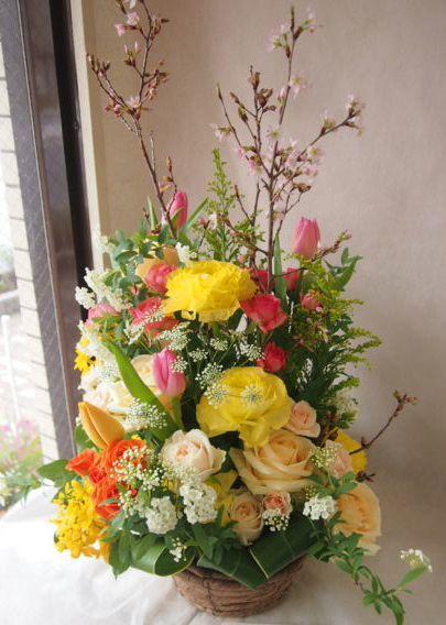 花ギフト|フラワーギフト|誕生日 花|カノシェ話題|スタンド花|ウエディングブーケ|花束|花屋|46470