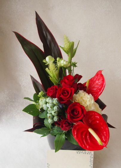 花ギフト|フラワーギフト|誕生日 花|カノシェ話題|スタンド花|ウエディングブーケ|花束|花屋|48846