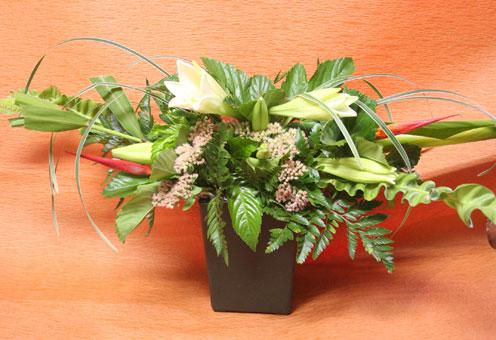 花ギフト|フラワーギフト|誕生日 花|カノシェ話題|スタンド花|ウエディングブーケ|花束|花屋|ちよこさん 鉄砲