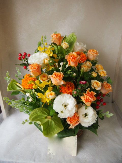 花ギフト|フラワーギフト|誕生日 花|カノシェ話題|スタンド花|ウエディングブーケ|花束|花屋|58252