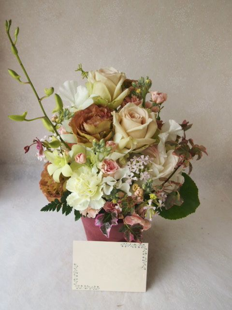 花ギフト|フラワーギフト|誕生日 花|カノシェ話題|スタンド花|ウエディングブーケ|花束|花屋|54659