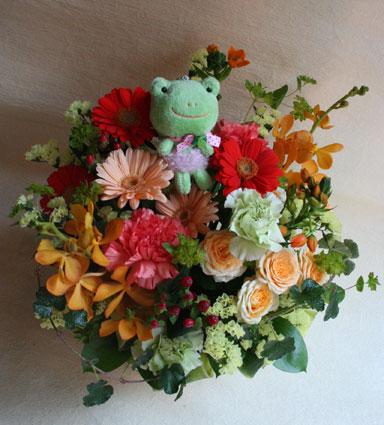 花ギフト フラワーギフト 誕生日 花 カノシェ話題 スタンド花 ウエディングブーケ 花束 花屋 kaeru