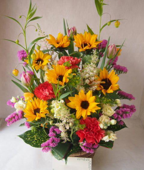 花ギフト|フラワーギフト|誕生日 花|カノシェ話題|スタンド花|ウエディングブーケ|花束|花屋|46687
