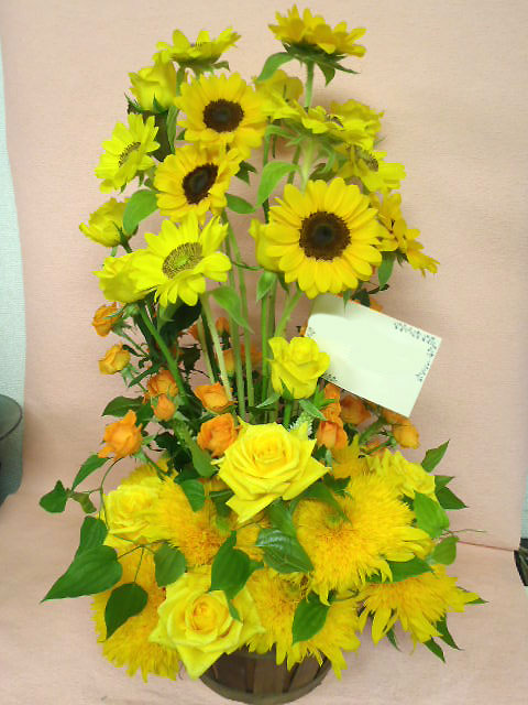 花ギフト|フラワーギフト|誕生日 花|カノシェ話題|スタンド花|ウエディングブーケ|花束|花屋|ひまわり ジュン