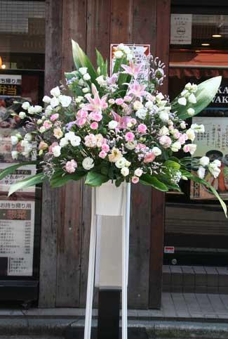 花ギフト フラワーギフト 誕生日 花 カノシェ話題 スタンド花 ウエディングブーケ 花束 花屋 ピンクスタンド