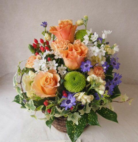 花ギフト|フラワーギフト|誕生日 花|カノシェ話題|スタンド花|ウエディングブーケ|花束|花屋|46622(1)